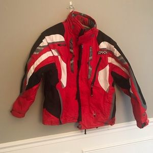 Mens spyder ski coat jacket parka size large l 52
